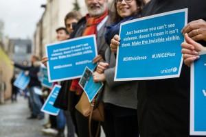 Chaine humaine de solidarité au Luxembourg