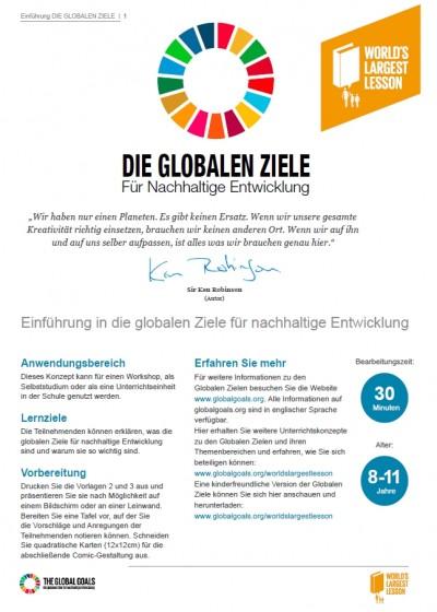 Einführung in die globalen Ziele für nachhaltige Entwicklung
