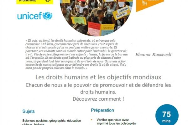 Les droits humains et les objectifs mondiaux