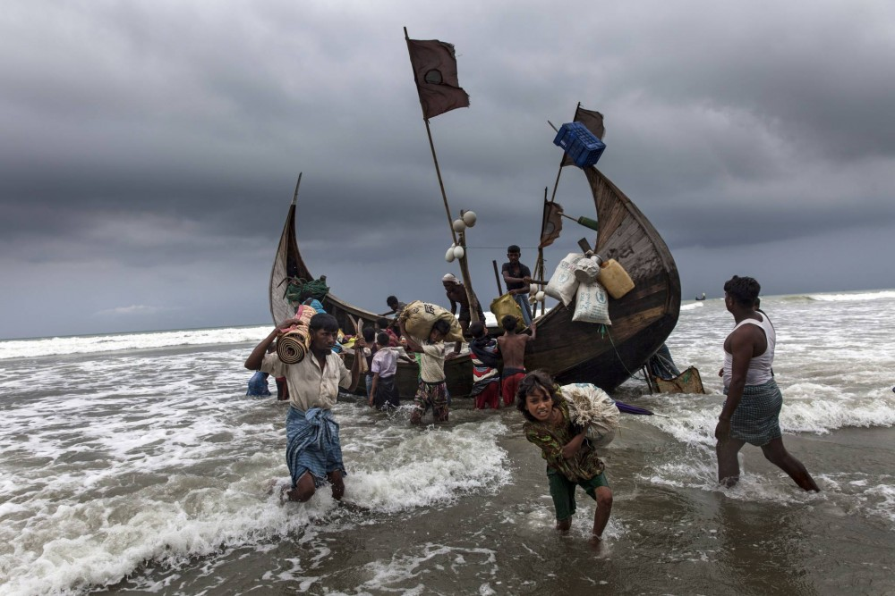 Enfants réfugiés Rohingya au Bangladesh