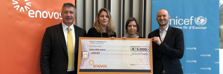Enovos fait don de 5.000 € pour l'éducation dans les urgences
