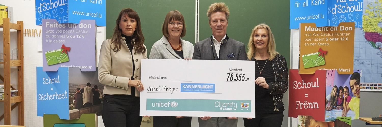 Kannerliicht: Plus de 78.500 € récoltés pour l'éducation dans les urgences