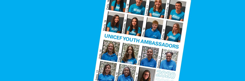 Nouveaux jeunes ambassadeurs d'UNICEF Luxembourg