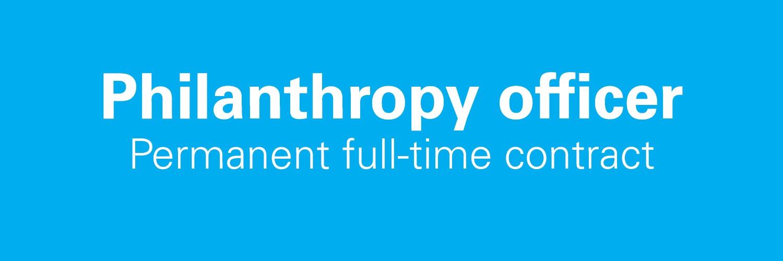 A Philanthropy Officer